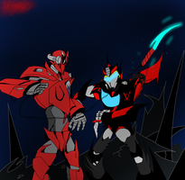 Starshadow vs Red Shift by ToniMizukiPrime