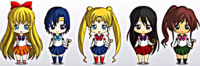 Chibi Sailor Scouts by Doodlechick13