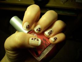 Nail art n.2 Leopard by megalomaniaCi