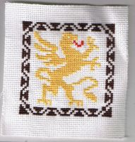 Griffin Cross Stitch by Awenmir