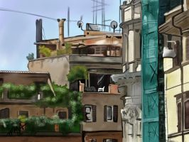 Rome Roof Tops by TheFullMetalArtist