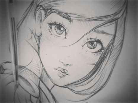 Mulan  15min sketch  by ryky