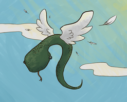 Snakes should be able to fly... by chichinana