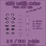 Chibi Outfit Maker FACE Add On by Omega-Fluff