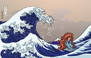 Fujimoto and the Great Wave by Kaaziel