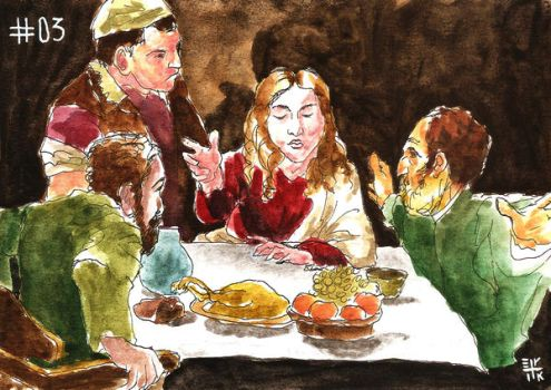 The Supper at Emmaus by ErikReis