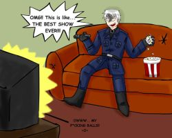 APH: Prussia watchs JACKASS by fiori-party