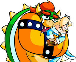 Commission - Crying Bowser with Rosalina by JamesmanTheRegenold