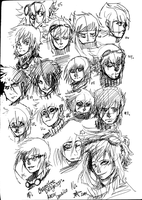 Axcer Danteleo sketches by XBloodClash-mumblesX