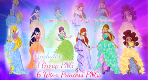 Winx Princess PNGs ZIP - READ BELOW and DOWNLOAD! by Magic-World-of-Winx