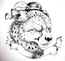Cheetah Tattoo Design by RaiynClowd