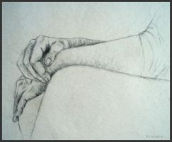 Drawing - Hands by Ennete