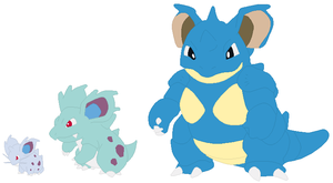 Nidoran, Nidorina and Nidoqueen Base by SelenaEde