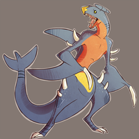 Garchomp by Dusty-Demon