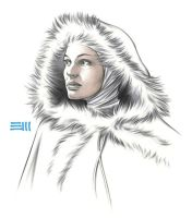 Snowbunny Padme Sketch by Erik-Maell