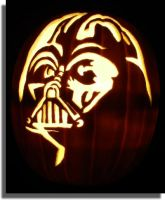 Darth Vader Pumpkin by mkuppe