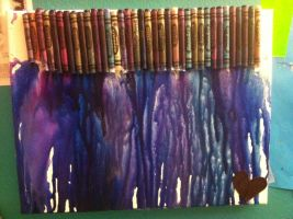 BLUEpurple melted crayon art by RiseAgainstCEDA