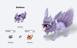 Shelleon - Pokemon Fusion 01 by Evolemon