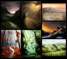 30min Speedpaints by CAHess
