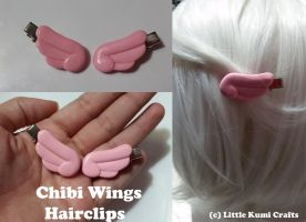 Chibi Wings Hairclips by lkcrafts