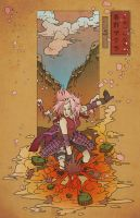 Woodblock ~Sakura~ by Sempaiko