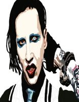 Marilyn Manson Pen work 4 by daylover1313