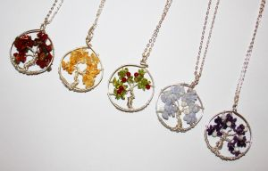 Tree of Life Pendants 2 by BumbleBeeFairy