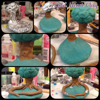 Tree Trinket/Ring Holder WIP by Gold-Heart-Clay