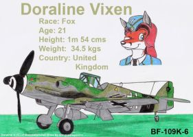Doraline and her Bf-109K-6 by DingoPatagonico