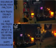 Pirates! Halloween Decor 2014 + Video by LuffyNoTomo