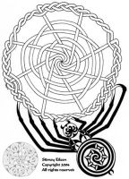 Celtic Knotwork Spider by sidneyeileen