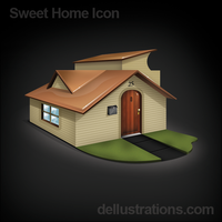 Sweet Home Icon by dellustrations