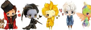 ROTG- chibi set by meru90