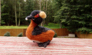 Felted Horned Grebe by DancingVulture