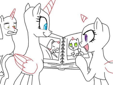 family show off base (pony verson) by AhnisTheCat0