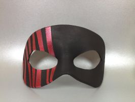 Black and Red striped mask by maskedzone