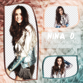 Pack png 82 - Nina Dobrev by worldofpngs