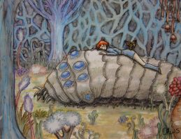 Nausicaa on Ohmu by Daws3