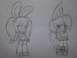 Redesigns: Holly and Cassie by SaberCookie2410