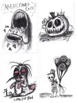Graphite Doodles 5 -Halloween Edition by Comickpro