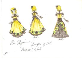 Rin Kagamine's Princess Dress by HikariTwinkle