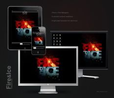 Fire .nd Ice Wallpapers by pixel-junglist