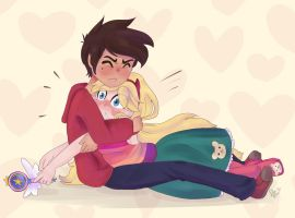 Starco: Stay with me by Drawing-Heart