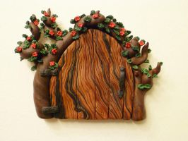 Happy Trees Fairy Door by FlyingFrogCreations