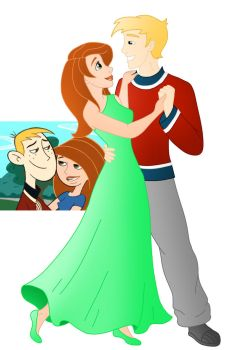 Disney style Romance: Kim and Ron by Willemijn1991