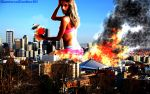 Alessandra Ambrosio Terrorizes Seattle by GiantessStudios101