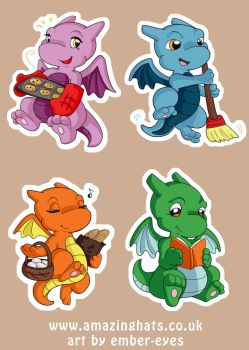 Dragon Designs Collage by Ember-Eyes