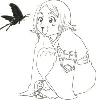 Yachiru and a hell butterfly by ShelbyGT-500KR