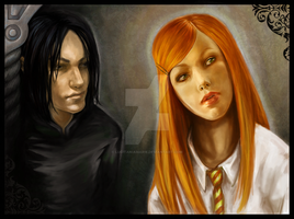 Snape and Lily by LucitaniaMarie