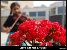 Arya and the Flowers by ewensimpson